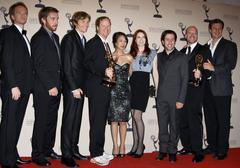 neil patrick harris, joss whedon, nathan fillion, simon helberg and felicia d - stock photo