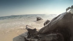 Sea and rocks - stock footage