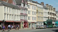 Oxford high street, england Stock Footage