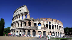 Colosseo in Rome Stock Footage