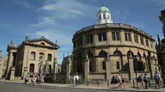 Sheldonian theatre, oxford, england Stock Footage