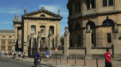 Oxford, sheldonian theatre, england Stock Footage