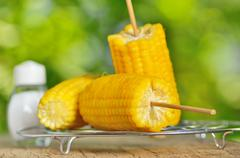 Corn boiled Stock Photos