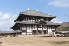 todai-ji temple - stock photo