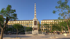 Malaga Merced Square Stock Footage