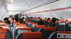 On board Easy Jet flight 1 Stock Footage