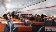 Stock Video Footage of On board Easy Jet flight 1