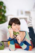 woman on telephone - stock photo