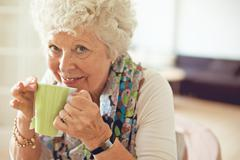 cup of tea to brighten up my day - stock photo