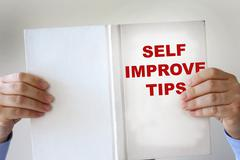 Self improvement fake book Stock Photos