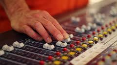 Audio levels Stock Footage