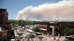 Wildfire over Fort Collins Colorado Stock Footage
