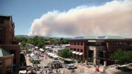 Stock Video Footage of Wildfire over Fort Collins Colorado