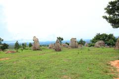 stonehenge in thailand,chaiyaphum province northeast of thailand. - stock photo