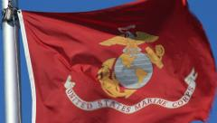 UNITED STATES MARINE CORPS FLAG Stock Footage