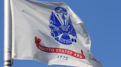 UNITED STATES ARMY FLAG - stock footage