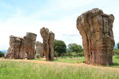 morhinkhao is the stonehenge in thailand,chaiyaphum province northeast of tha - stock photo