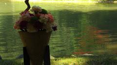 Ikebana traditional Japanese flower arrangement Stock Footage