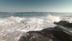 Sea rocks and waves - stock footage