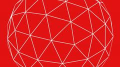 3d grid ball frame,tech web virtual background. - stock footage