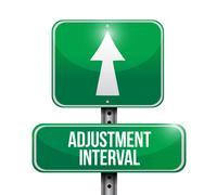 adjustment interval road sign illustration design - stock illustration