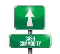 Cash commodity road sign illustrations design Stock Illustration