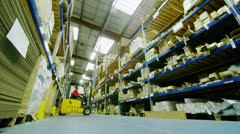 Time lapse of male workers in warehouse preparing goods for dispatch - stock footage