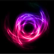 Abstract lights lines twist background. Vector Stock Illustration