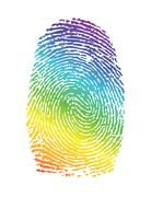 Stock Illustration of rainbow pride thumbprint. fingerprint