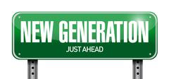 new generation road sign illustration design - stock illustration