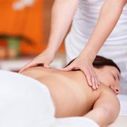 Relaxing back rub Stock Photos