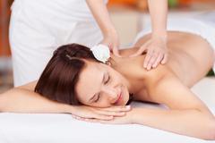 Relaxing massage Stock Photos