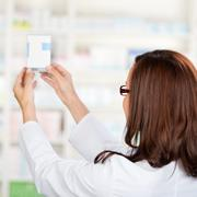 pharmacist chemist - stock photo