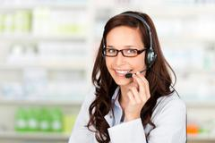 Pharmacist with headset Stock Photos