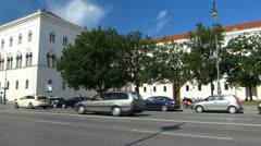 Munich LMU university campus student Bavaria Germany Stock Footage