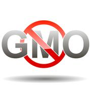 Editable GMO-free sign Stock Illustration