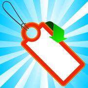 Red price tag with arrow Stock Illustration