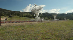 Dominion Radio Astrophysical Observatory, BC, Camera Dolly Stock Footage