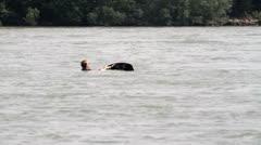 Waterskiing on the Rhine Stock Footage