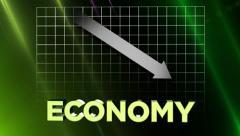 Finance-Economy with Down Arrow - stock footage