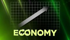 Finance-Economy with Up Arrow Stock Footage