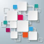 colorful rectangle squares - stock illustration