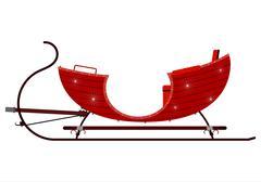Red vintage sleigh Stock Illustration