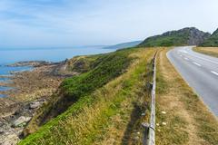 coastal road - stock photo