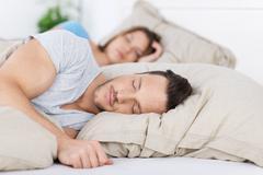 sleeping couple - stock photo