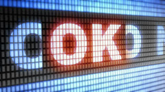 """ok"" on screen Stock Footage"