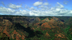 Waimea Canyon timelapse Stock Footage
