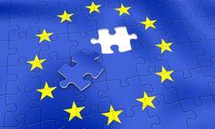 eu puzzle - stock illustration