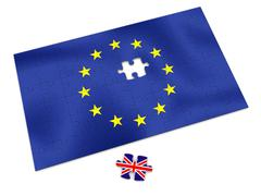eu puzzle - stock illustration