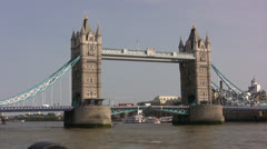 Tower Bridge view from ground level Stock Footage